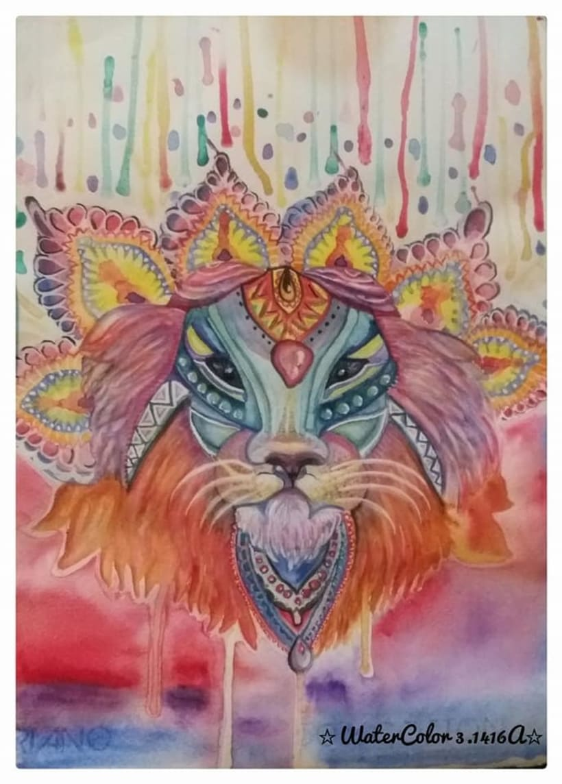 WaterColor LION 0