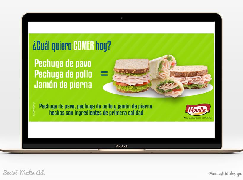 Online Advertising. Facebook posts 1