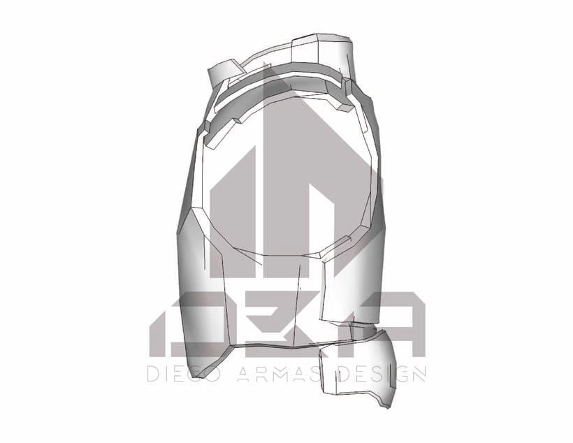 """Chaleco """"T24"""" Prototipo de Chaleco Táctico 1"""