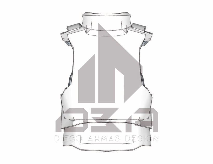"""Chaleco """"T24"""" Prototipo de Chaleco Táctico 2"""