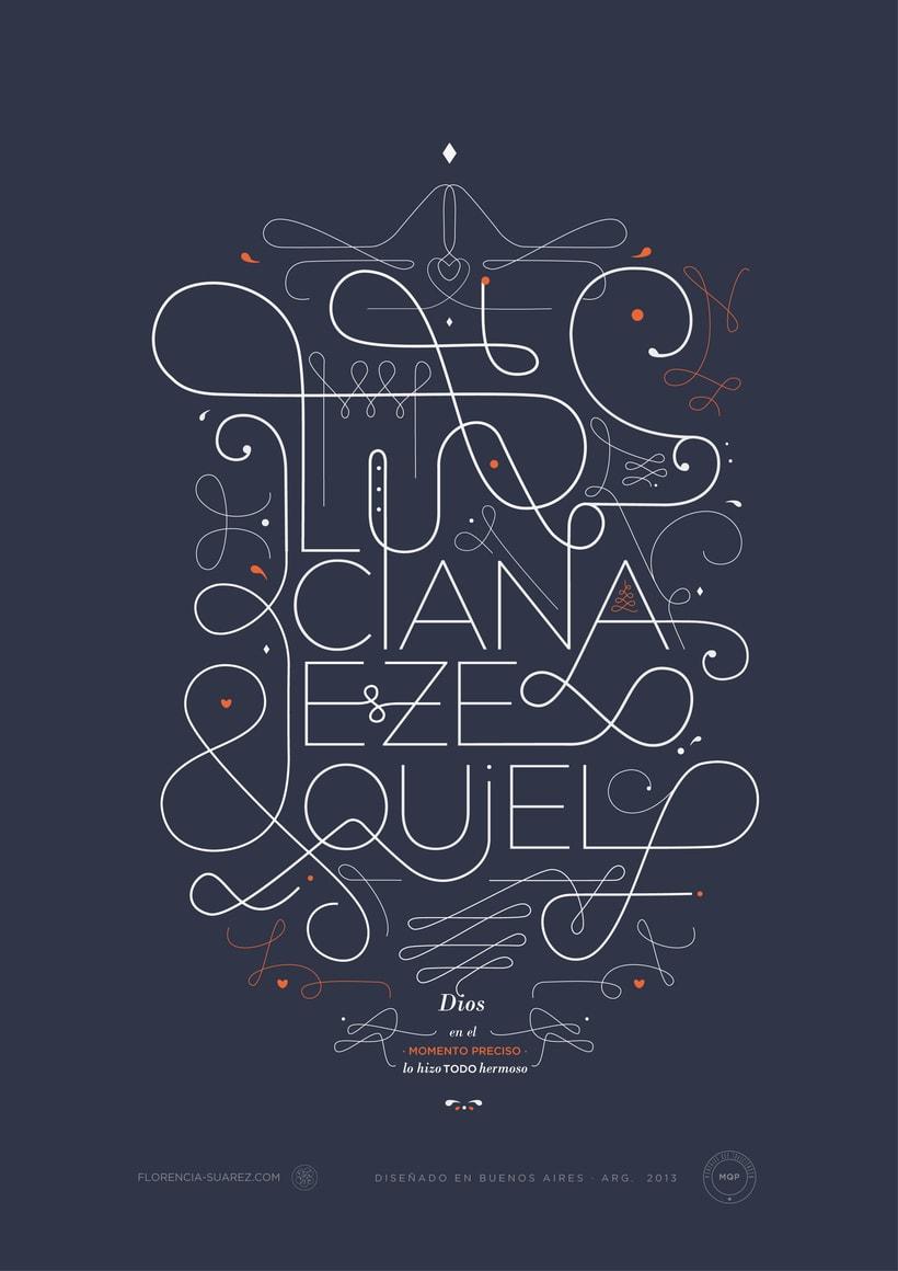 L & E · Ilustración tipográfica 1