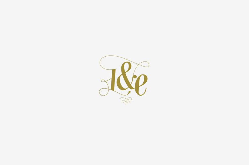 Logotipo y monograma L&E 1