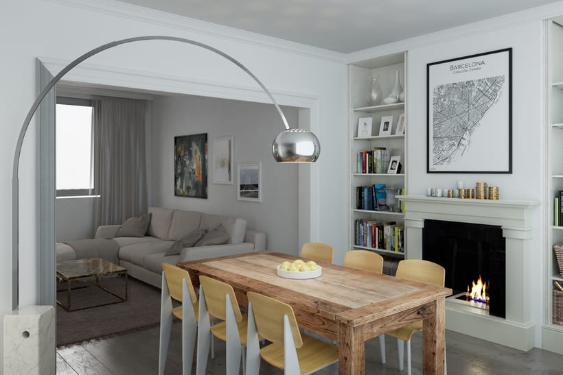 3D Render Arquitectura Interiorismo Padilla_Barcelona 3