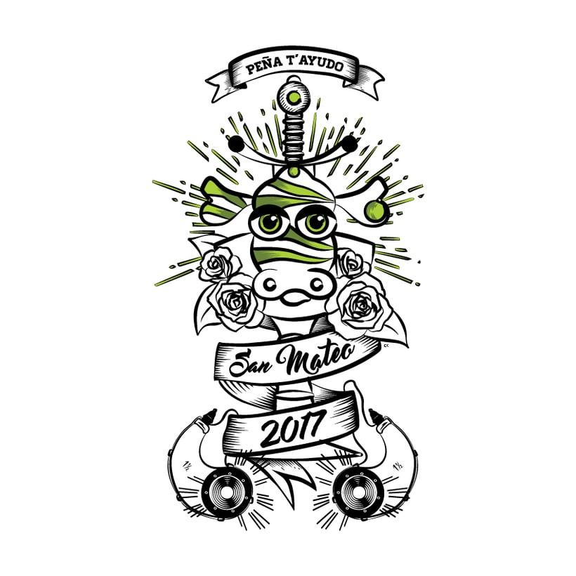 Diseño Portada Cartel 2017 - Peña T'ayudo -1