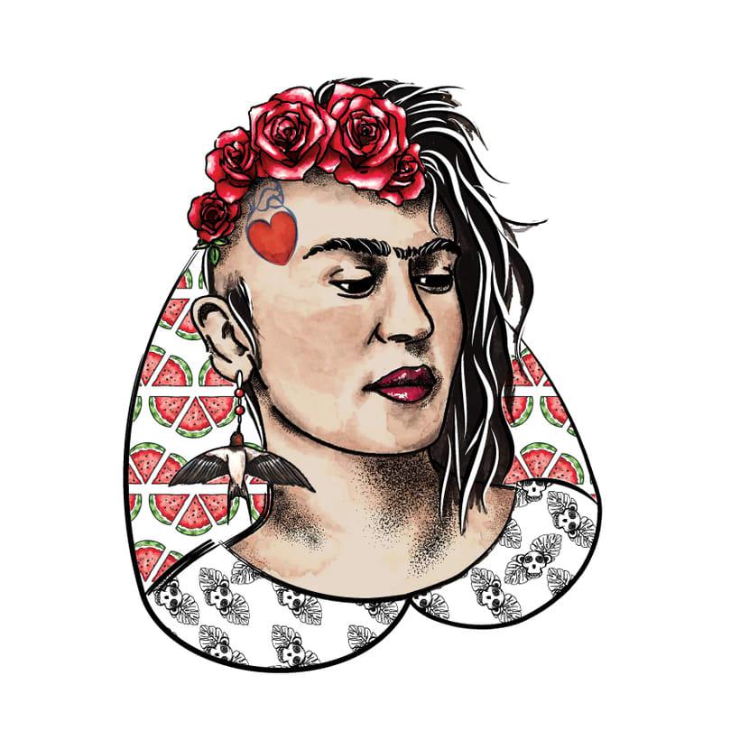 Serie Frida Kahlo (Ilustración Textil) 0