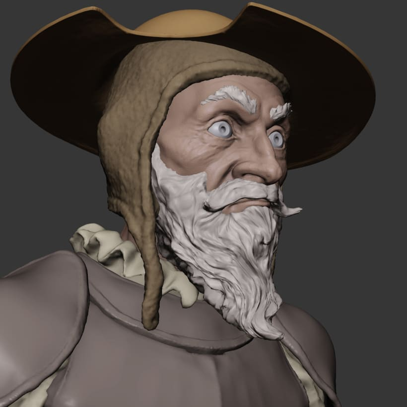 Don Quijote sketch made in blender 0