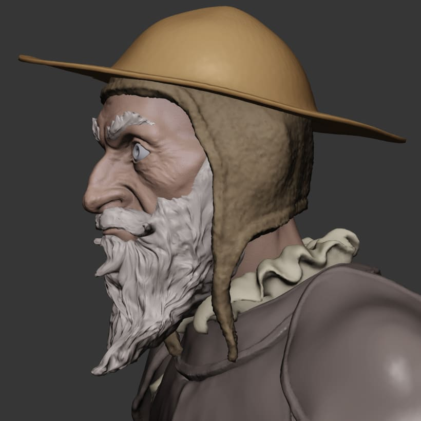 Don Quijote sketch made in blender 1