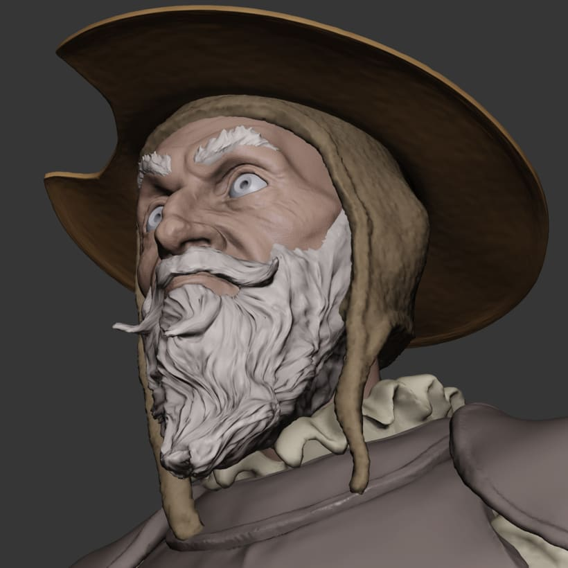 Don Quijote sketch made in blender 2