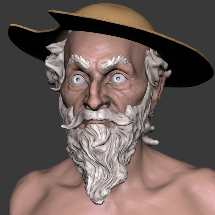 Don Quijote sketch made in blender 9
