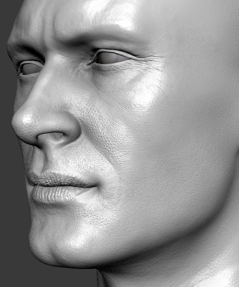Estudio de una cabeza masculina 0