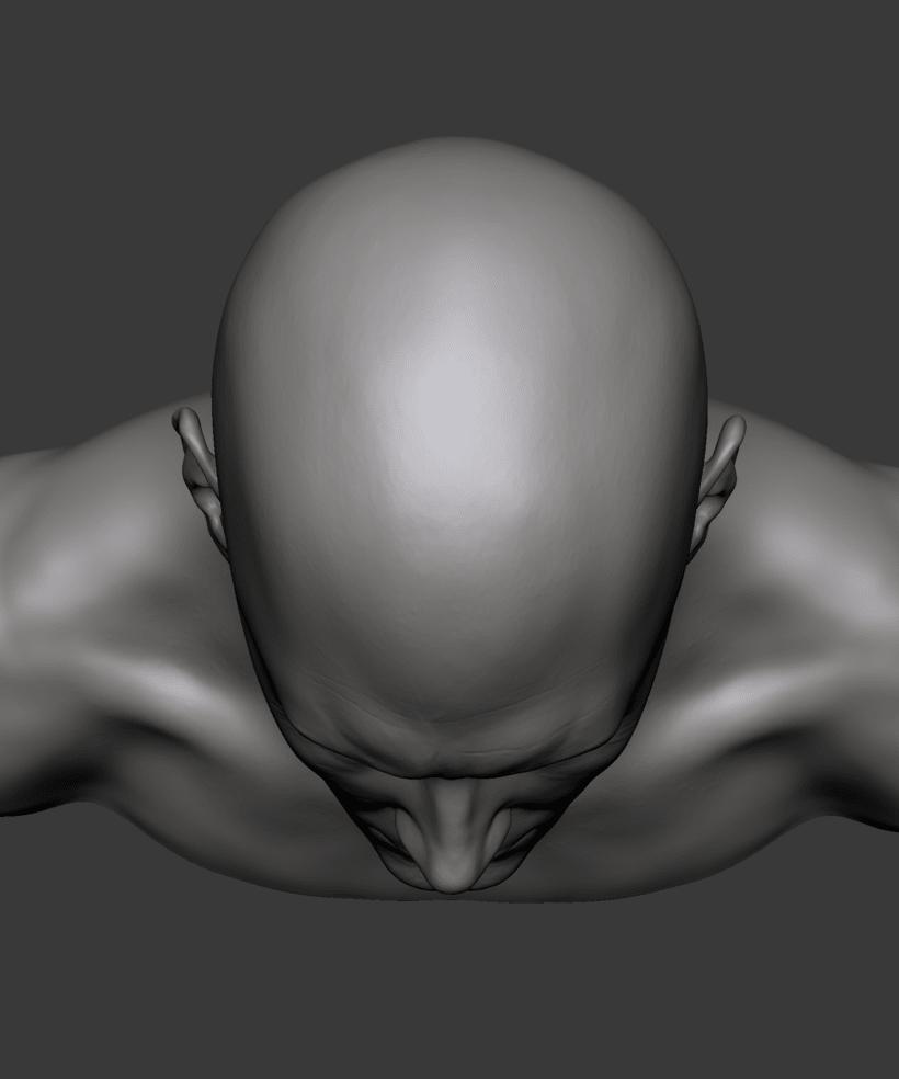 Estudio de una cabeza masculina 10