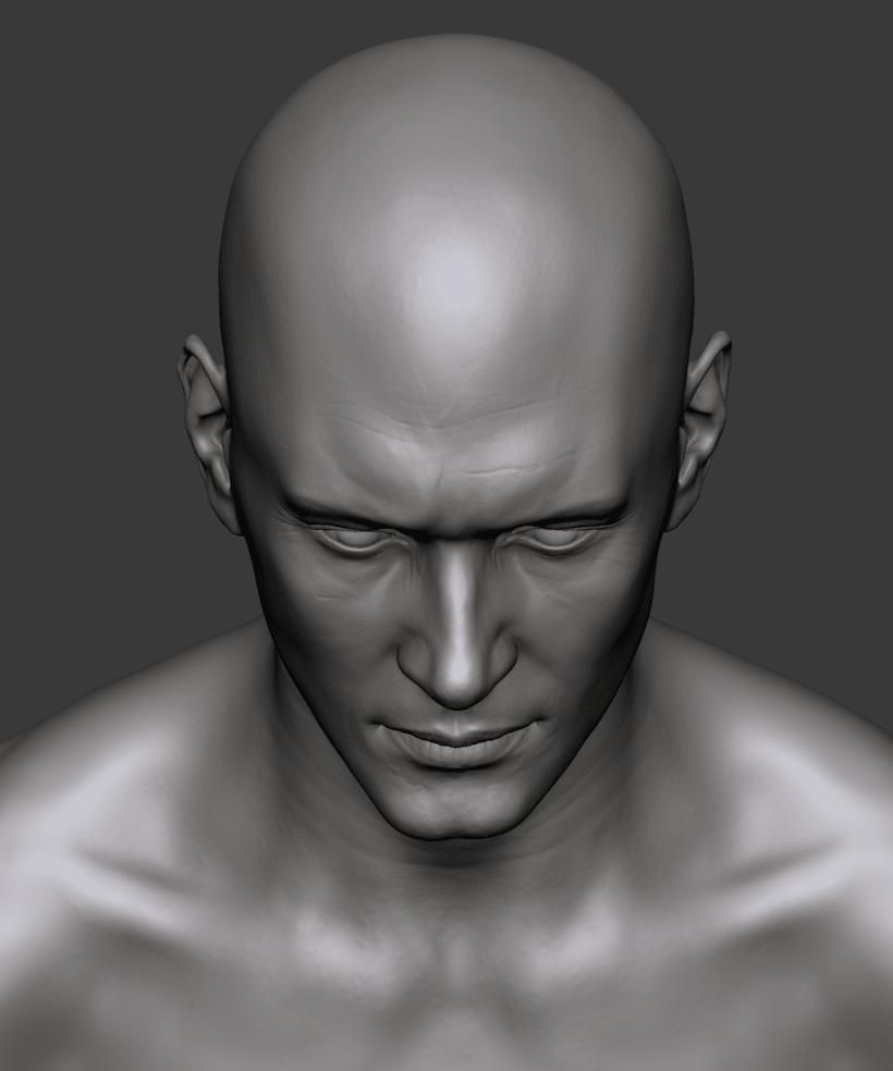 Estudio de una cabeza masculina 9