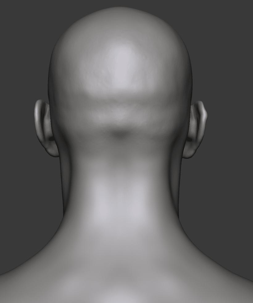 Estudio de una cabeza masculina 7