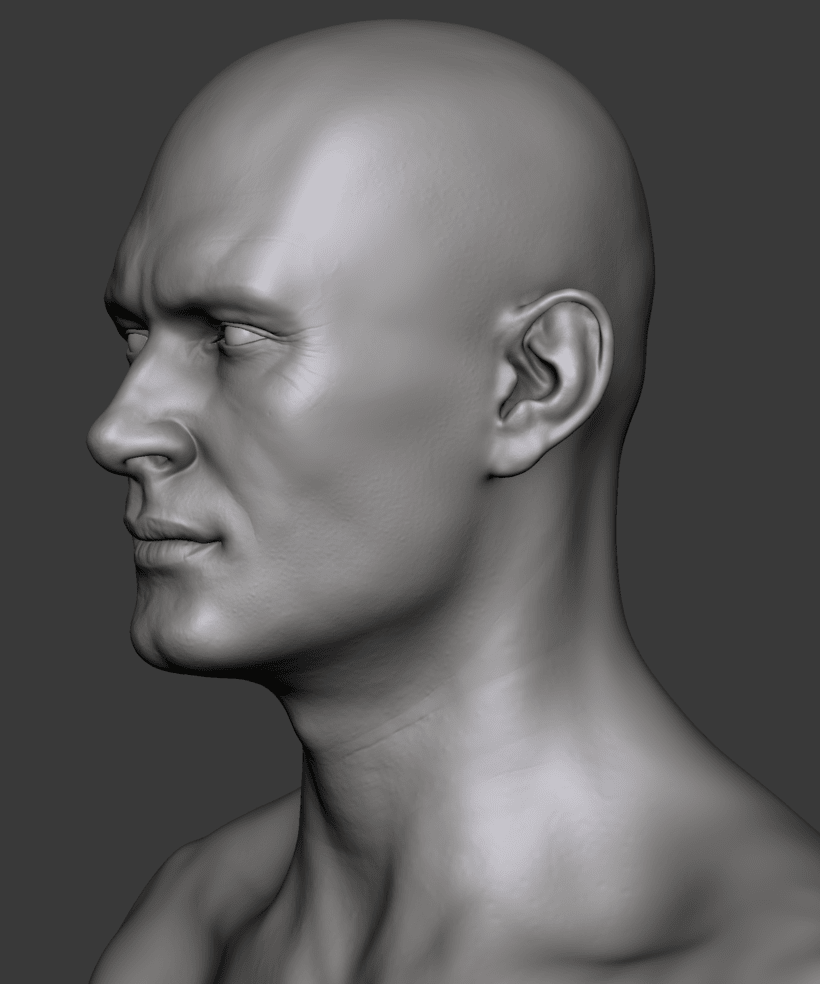 Estudio de una cabeza masculina 4