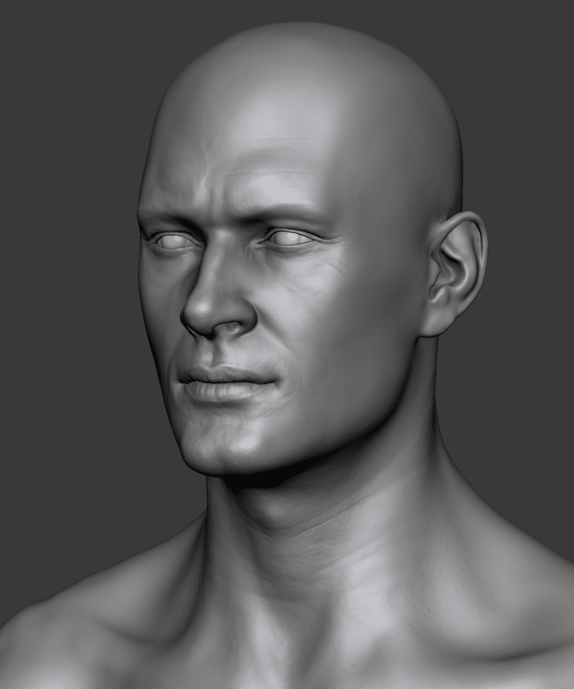 Estudio de una cabeza masculina 3