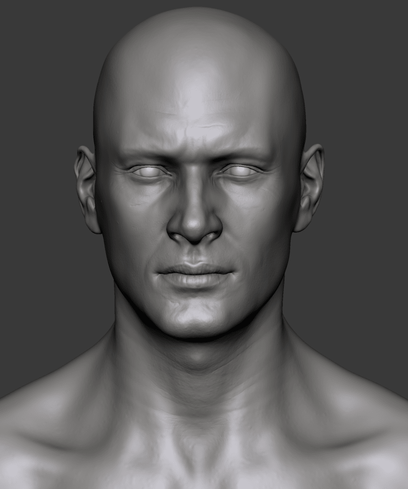 Estudio de una cabeza masculina 2