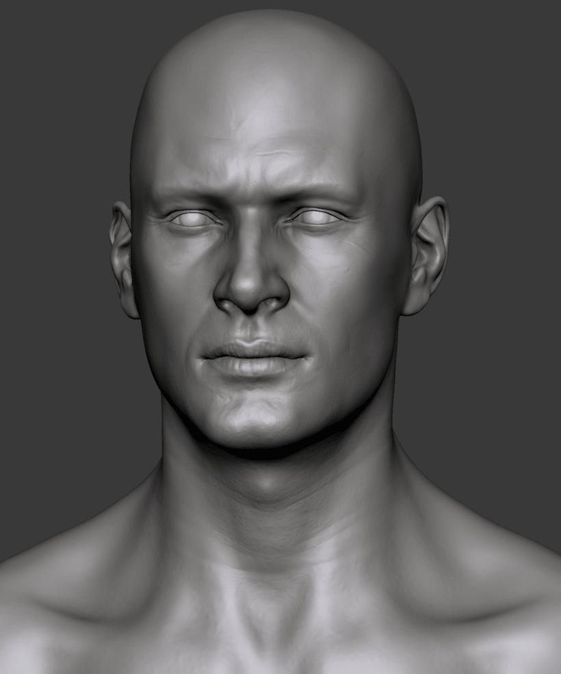 Estudio de una cabeza masculina 1