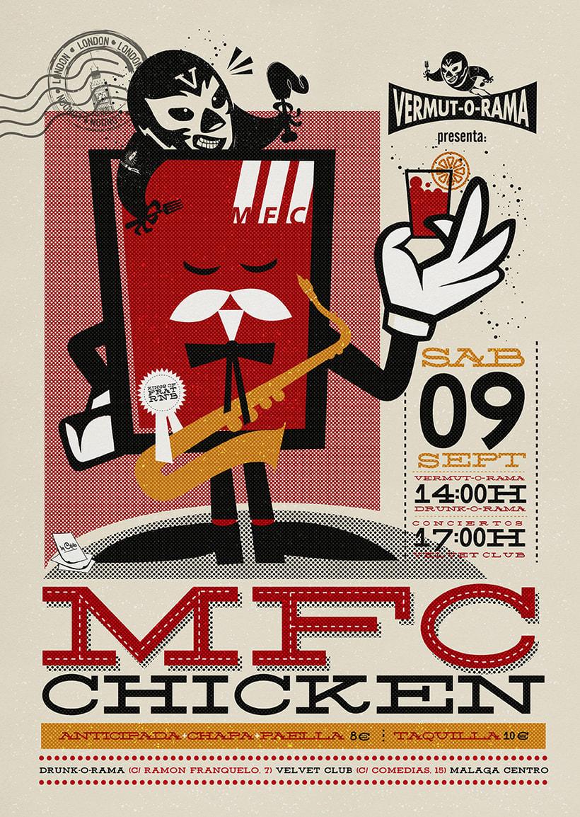 MFC CHICKEN vermut-o-rama poster 0