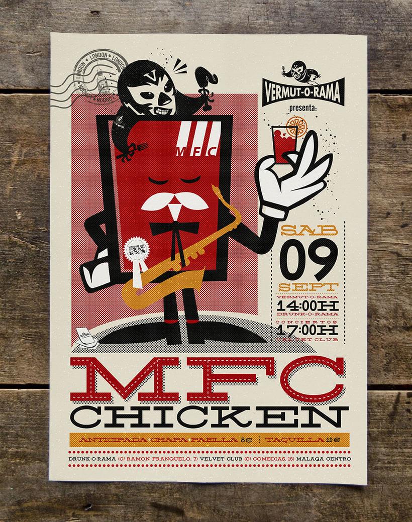 MFC CHICKEN vermut-o-rama poster 5