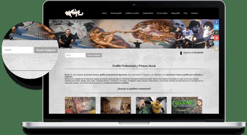 Diseño Web Berok, graffitero 0