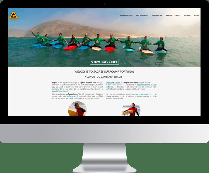 Diseño Web Sagres Surfcamp, escuela de surf -1