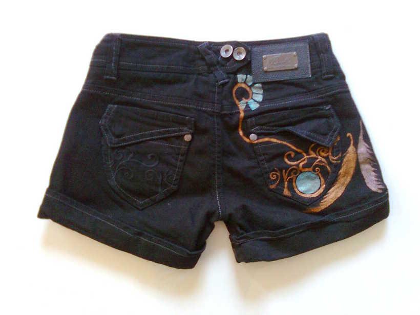 Vestidos,pantalones y faldas pintados a mano 9
