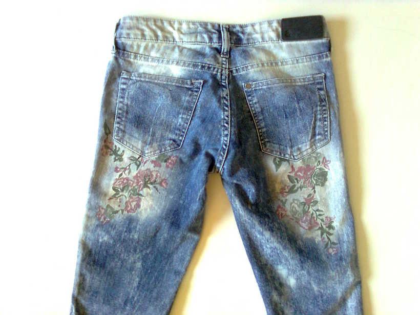 Vestidos,pantalones y faldas pintados a mano 14