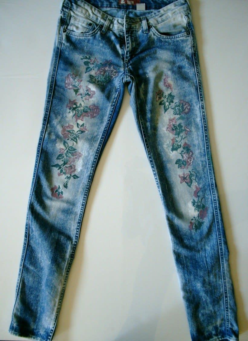 Vestidos,pantalones y faldas pintados a mano 15