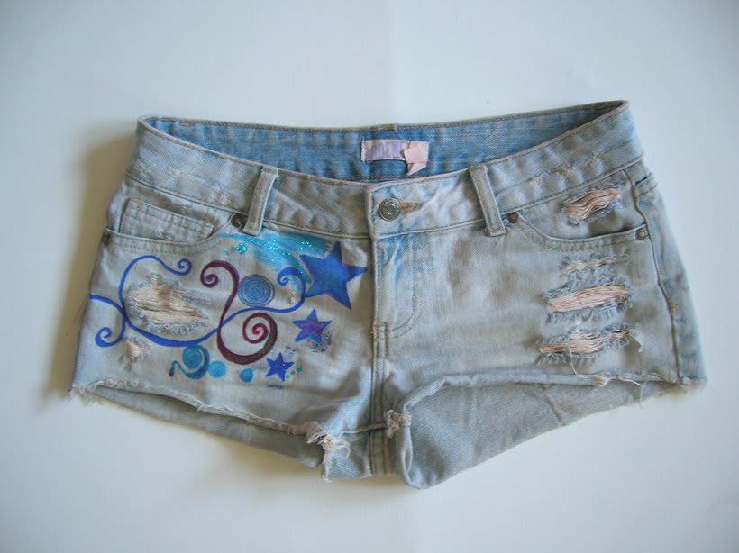 Vestidos,pantalones y faldas pintados a mano 19