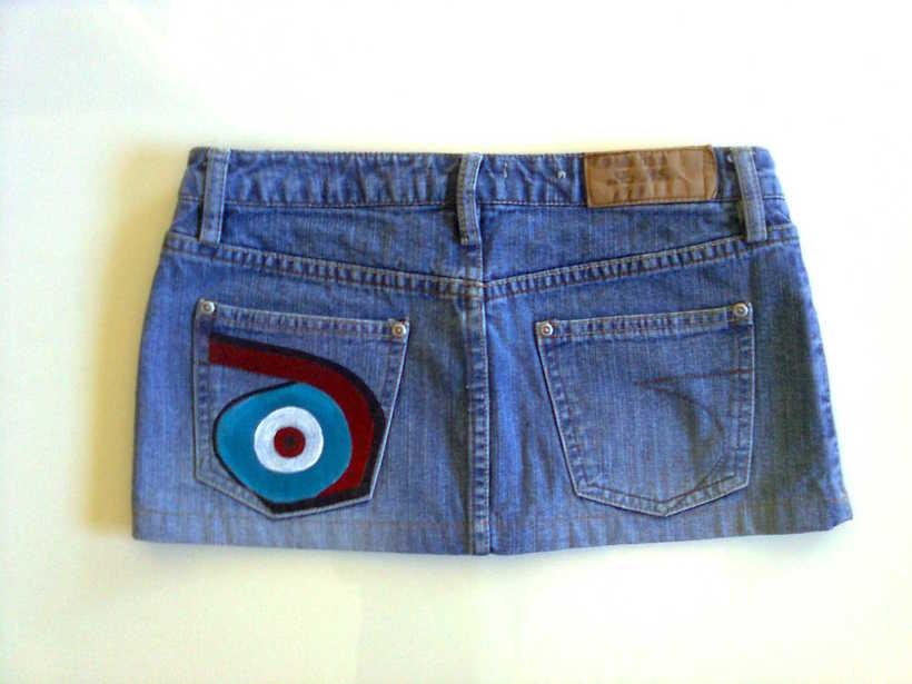 Vestidos,pantalones y faldas pintados a mano 22