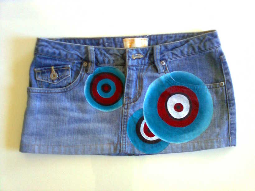 Vestidos,pantalones y faldas pintados a mano 23