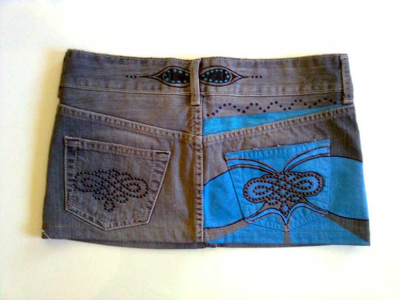 Vestidos,pantalones y faldas pintados a mano 28