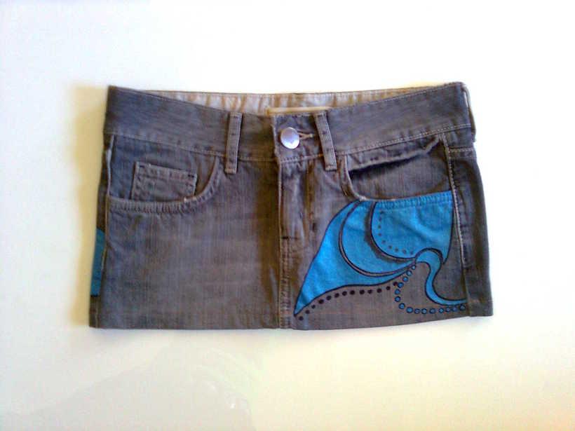 Vestidos,pantalones y faldas pintados a mano 29