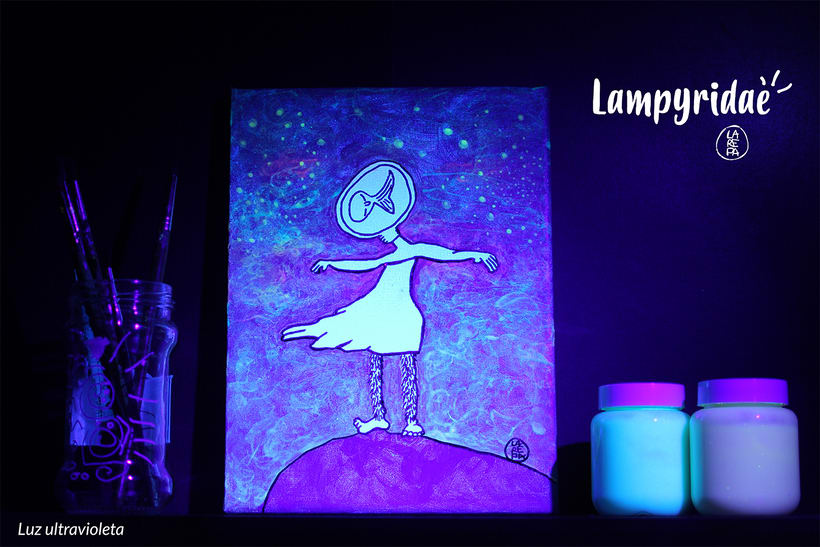 Lampyridae · Monstruo lumínico I / Serie pictórica 1