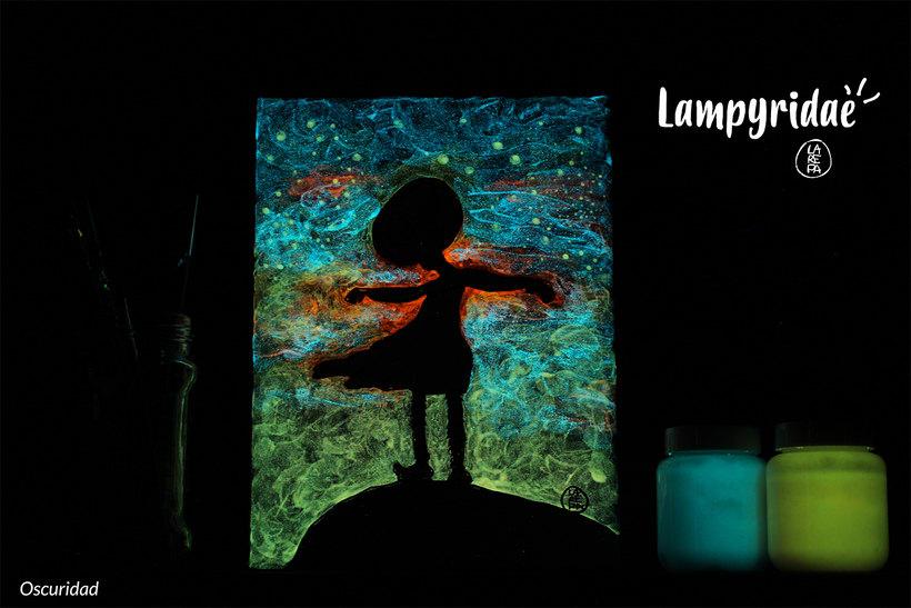 Lampyridae · Monstruo lumínico I / Serie pictórica 2