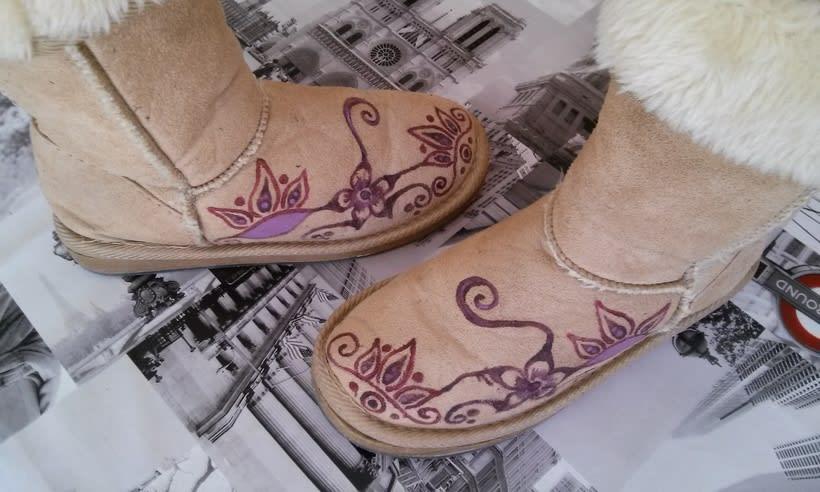 Calzado pintado a mano 1