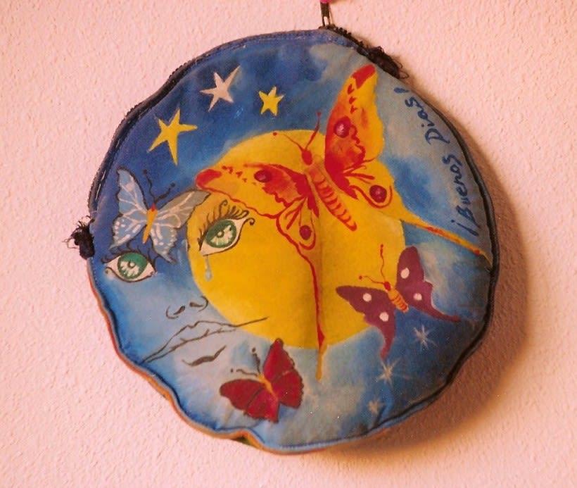 Diseño de Bolsos y Cojines para niñas/os pintados a mano -1