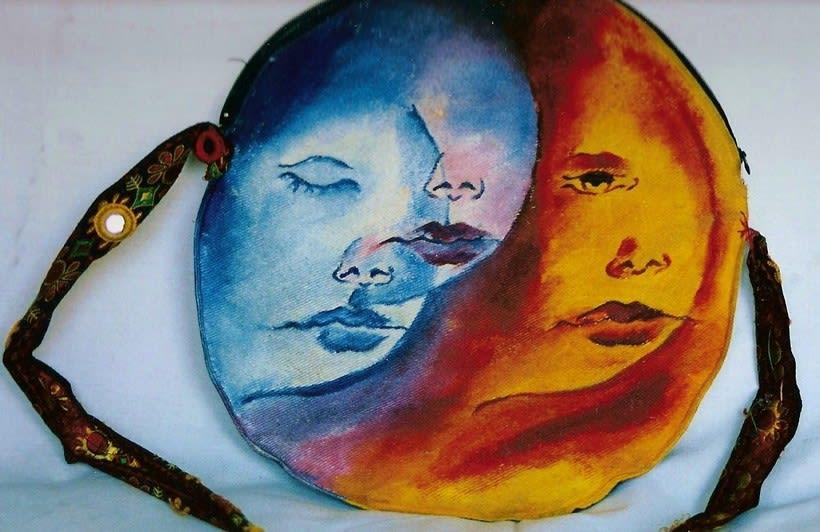 Diseño de Bolsos y Cojines para niñas/os pintados a mano 2