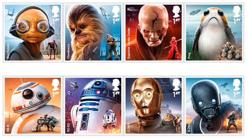 Sellos de Star wars para celebrar el 'Episodio VIII: Los últimos Jedi' 3