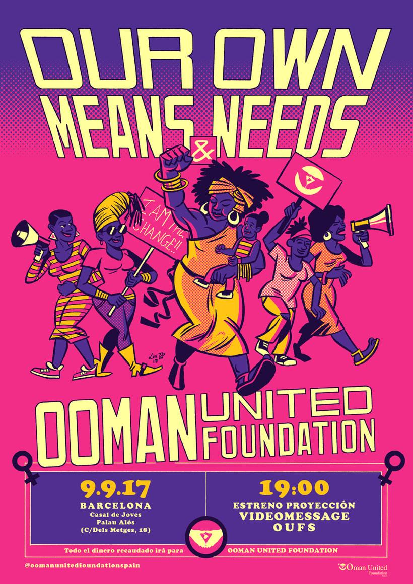 Ooman United Foundation Spain - Cartelería 1