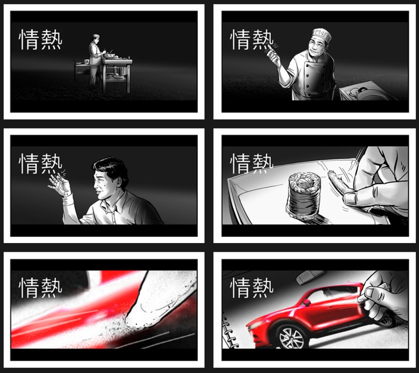 Shooting Board - Mazda 'KANJI DISRUPTION' (Ad & Shooting) 2