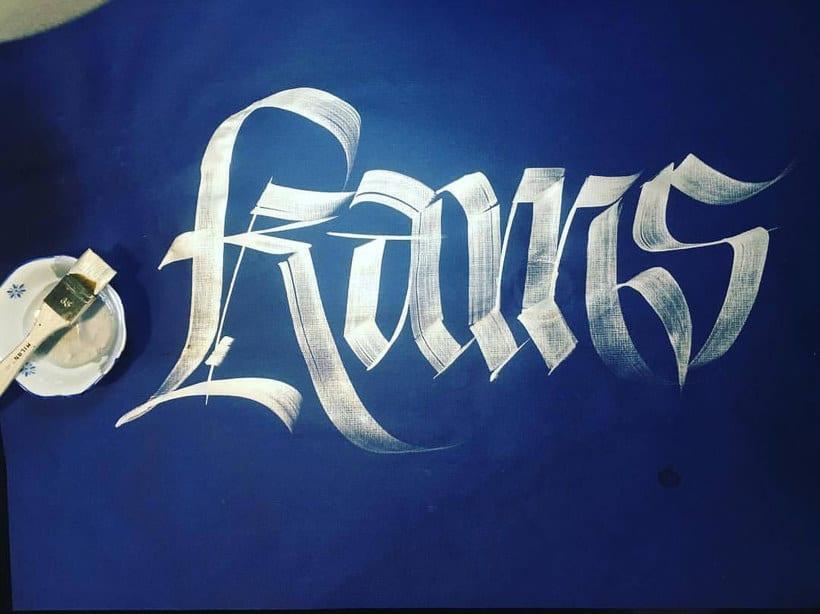 Mister Kams, un romance entre caligrafía y lettering 11