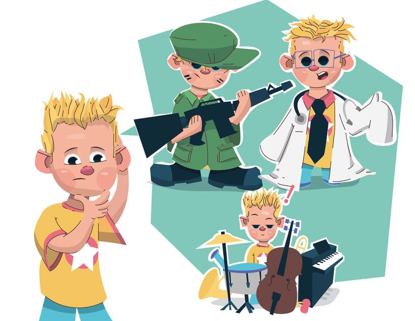 Alcanzando Una Estrella | Ilustración Infantil 1