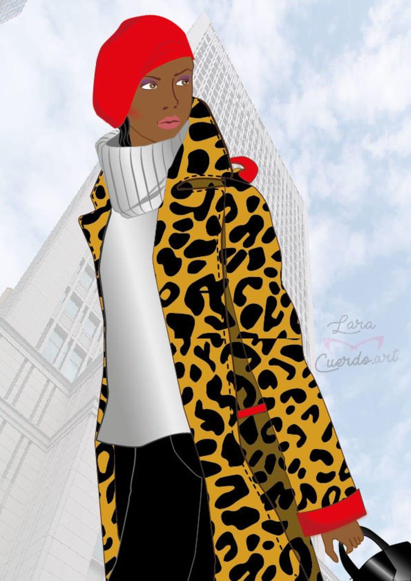 Ilustración de Moda OI17 Animal Print -1