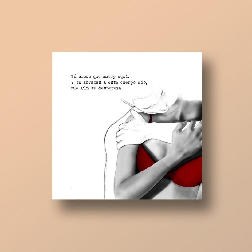 """Ilustraciones para libro """"Me muero de pena"""" de Verónica Antolín.  5"""