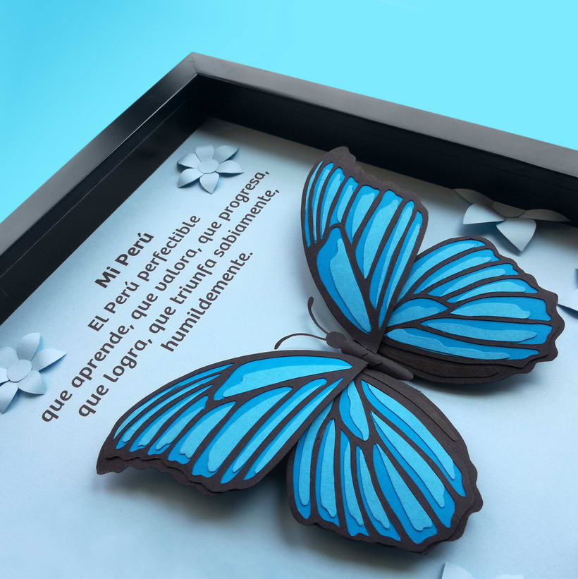 :: Morpho Azul Papercraft :: 6