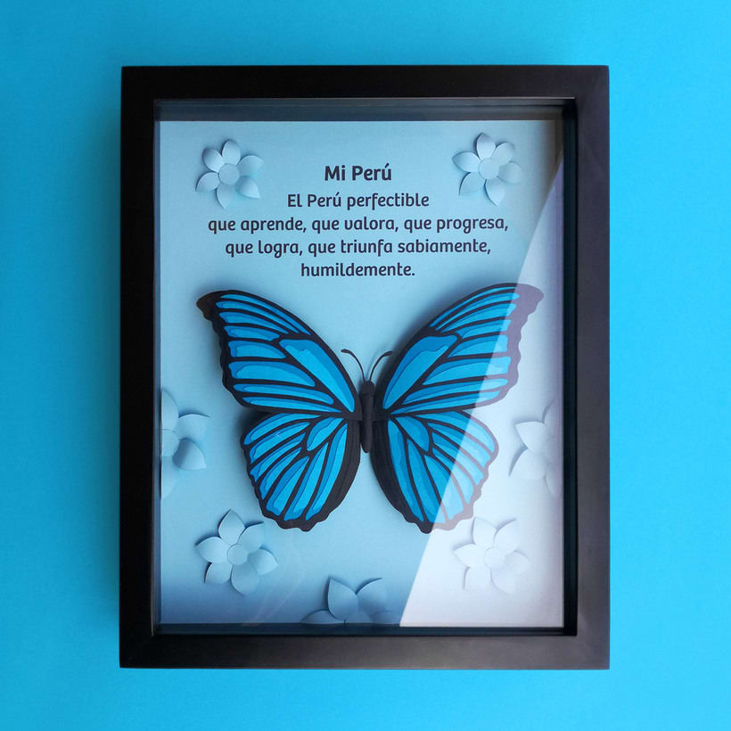 :: Morpho Azul Papercraft :: 7