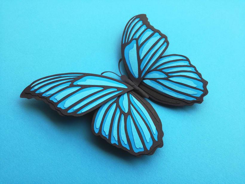 :: Morpho Azul Papercraft :: 3
