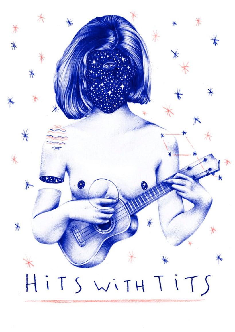 Las ilustraciones de Nuria Riaza se tiñen de azul 1