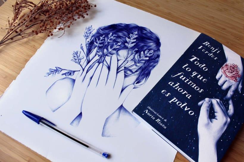 Las ilustraciones de Nuria Riaza se tiñen de azul 3